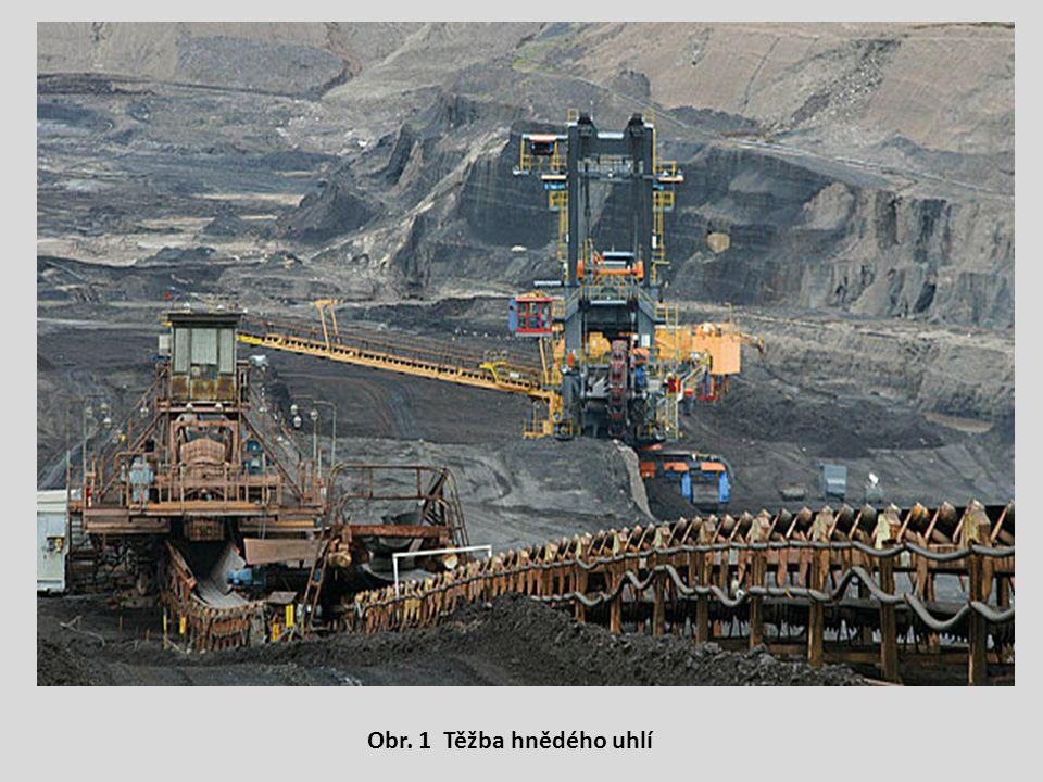 Obr. 1 Těžba hnědého uhlí