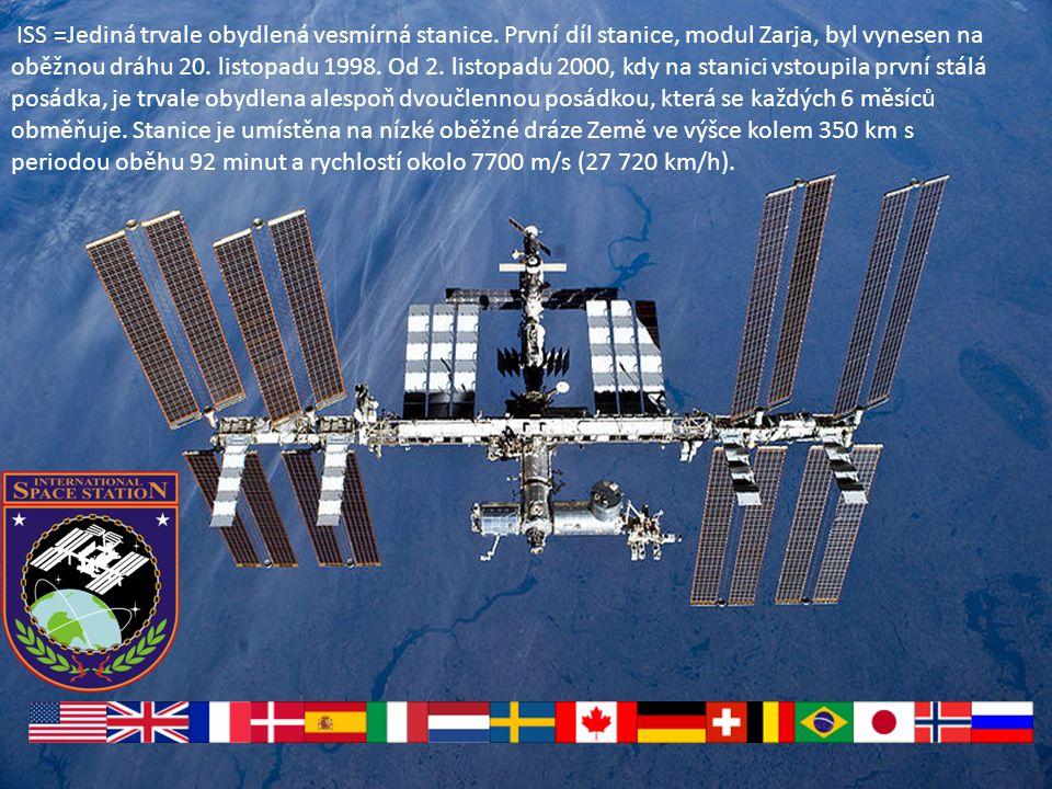 Kosmická stanice MIR sovětská(později ruská) vesmírná stanice, první dlouhodobě obydlená vědecká stanice ve vesmíru na oběžné dráze kolem Země. Byla v