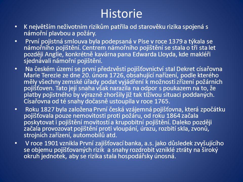 Legislativní základna pojišťovnictví v ČR Právní předpisy Zákony a přímo závazné předpisy EU Zákon č.