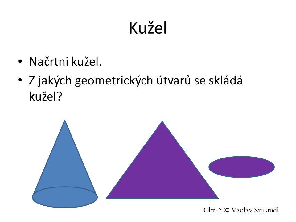Kužel Načrtni kužel. Z jakých geometrických útvarů se skládá kužel? Obr. 5 © Václav Simandl