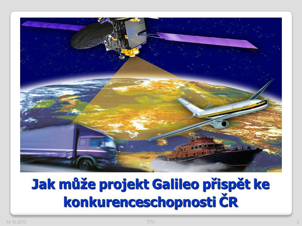 Jak může projekt Galileo přispět ke konkurenceschopnosti ČR 14.10.20132ČTU