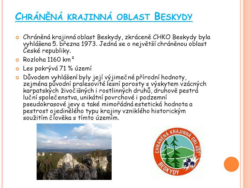 C HRÁNĚNÁ KRAJINNÁ OBLAST J ESENÍKY CHKO Jeseníky je chráněná krajinná oblast v pohoří Hrubý Jeseník, vyhlášená v roce 1969.