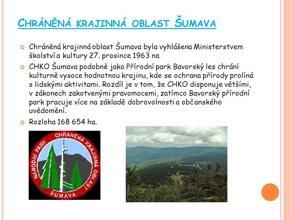C HRÁNĚNÁ KRAJINNÁ OBLAST Ž ĎÁRSKÉ VRCHY Rozloha je 709 km 2 Chráněné území pokrývá nejvyšší, severovýchodní část Českomoravské vrchoviny, tedy Žďárské vrchy a přilehlé vrchoviny.