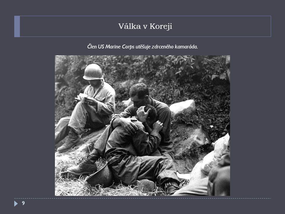 Válka v Koreji Americká dělostřelecká jednotka bránící Pusanský perimetr. 10