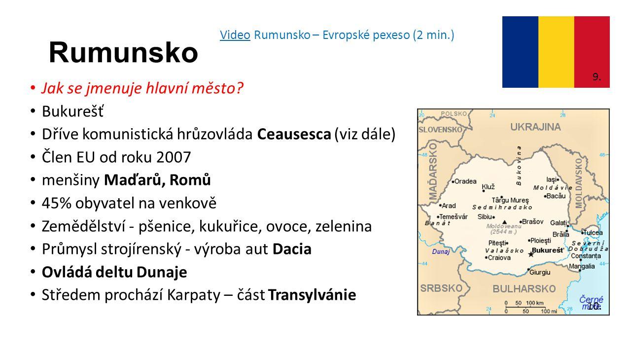 Rumunsko Jak se jmenuje hlavní město.