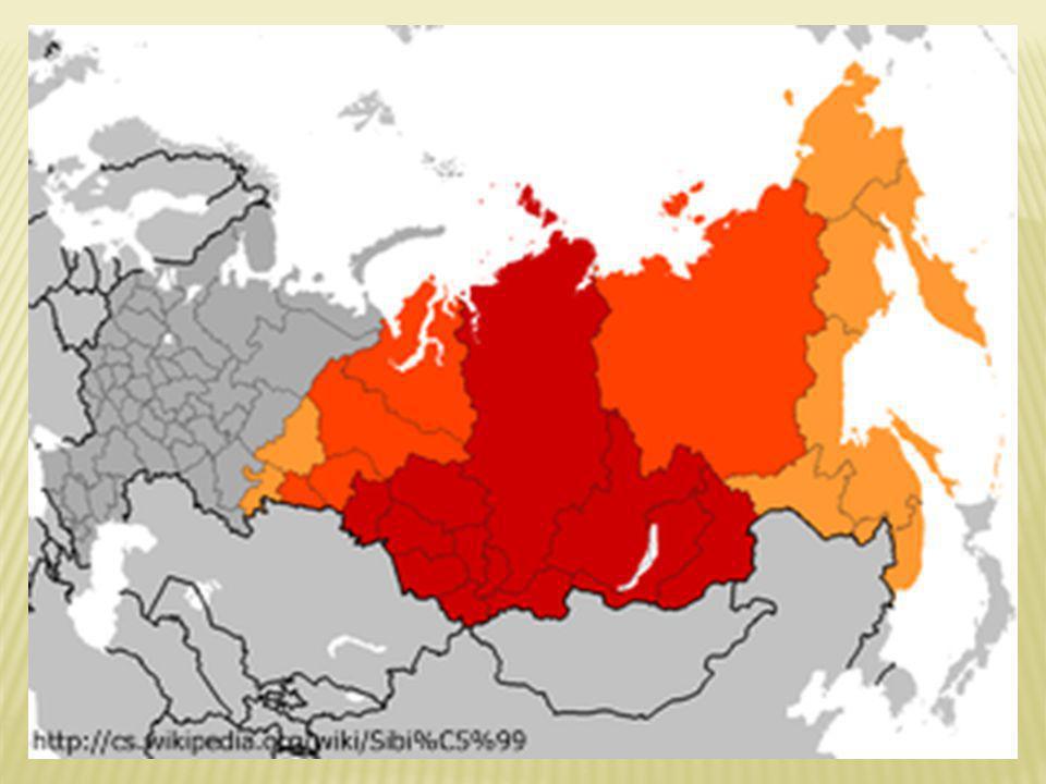 ASIJSKÁ ČÁST RUSKA JE PŘEDEVŠÍM SUROVINNOVÁ ZÁKLADNA DIAMANTOVÝ DŮL MIRNYJ HLOUBKA 525m ø 1200M ZÁKAZ PŘELETU HELIKOPTER