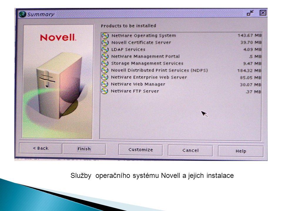 Služby operačního systému Novell a jejich instalace