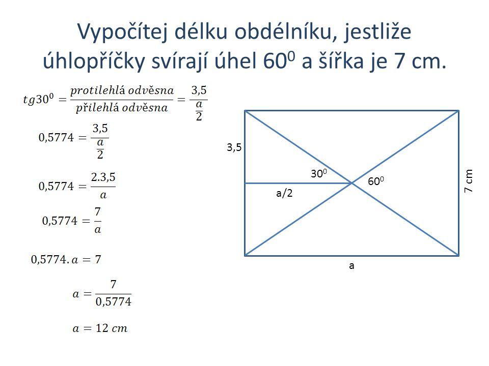 Vypočítej úhel při hlavním vrcholu rovnoramenného trojúhelníku, jestliže rameno měří 12 cm a základna 8cm.