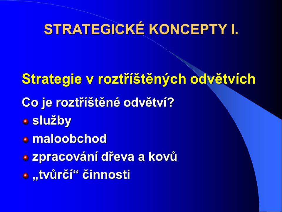 Strategie v roztříštěných odvětvích Co je roztříštěné odvětví.