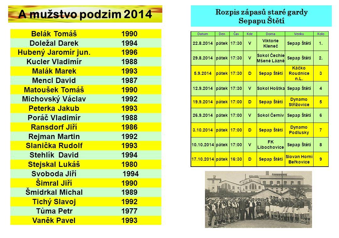 Co se událo v létě u mužstva dospělých Divizní soutěž jsme zakončili 14.6.2014 doma s Louňovicemi.