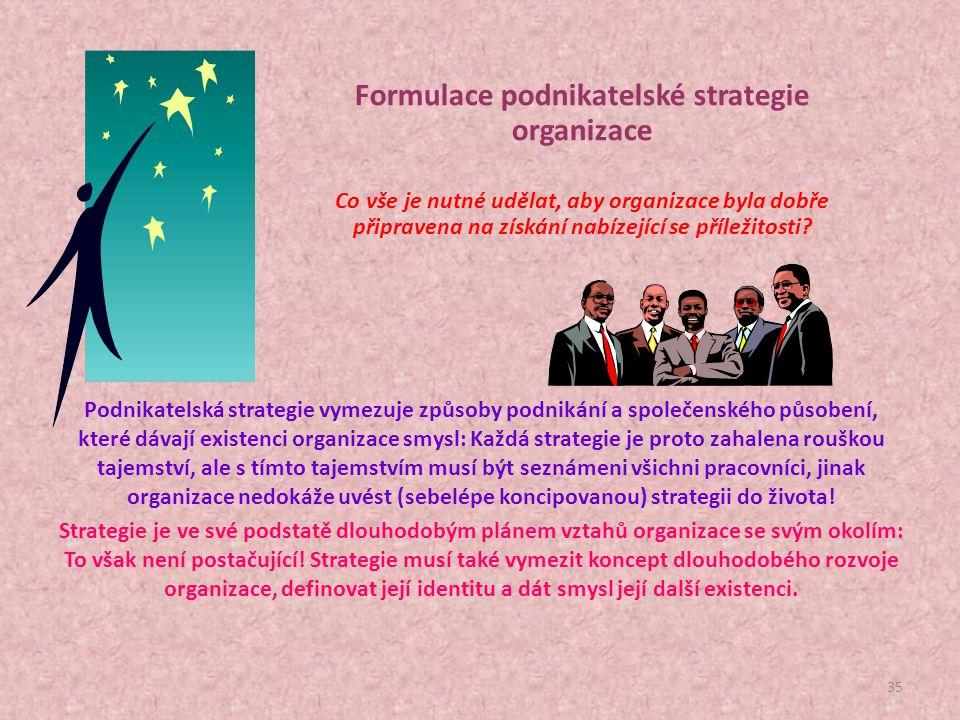 34  Podnikatelský záměr musí specifikovat podnikatelský problém, jehož odstranění je jeho uskutečněním sledováno.  Podnikatelský záměr musí představ