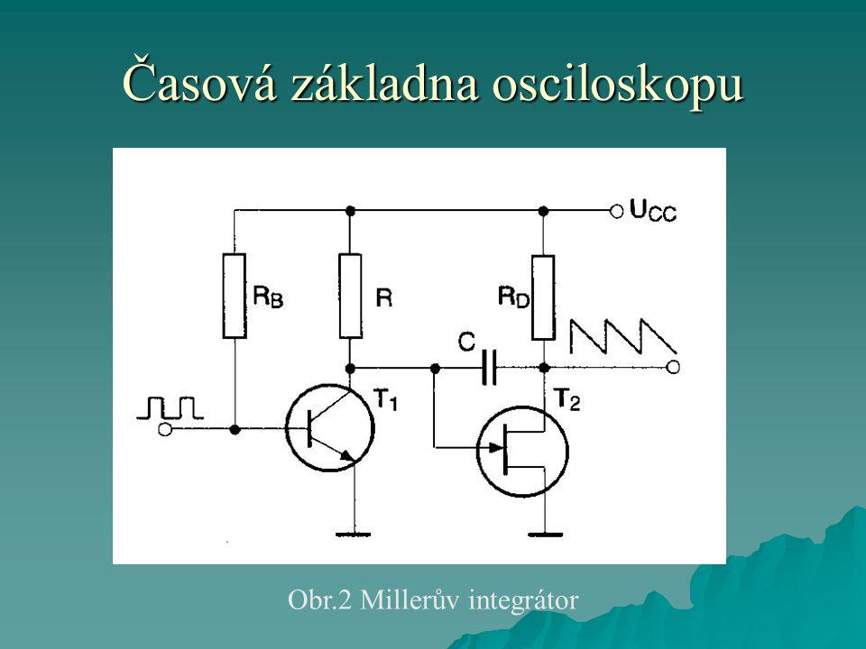 Časová základna osciloskopu Obr.2 Millerův integrátor