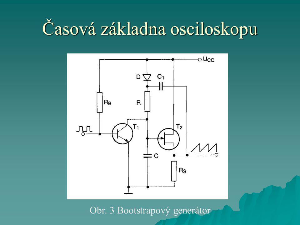 Časová základna osciloskopu Obr. 3 Bootstrapový generátor