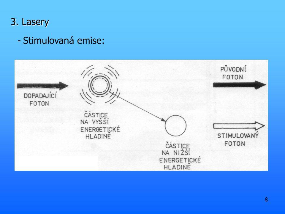 8 3. Lasery -Stimulovaná emise: