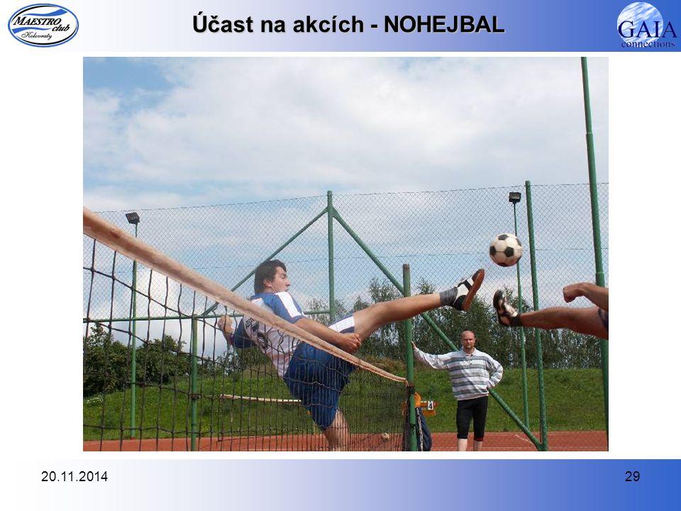 20.11.201429 Účast na akcích - NOHEJBAL