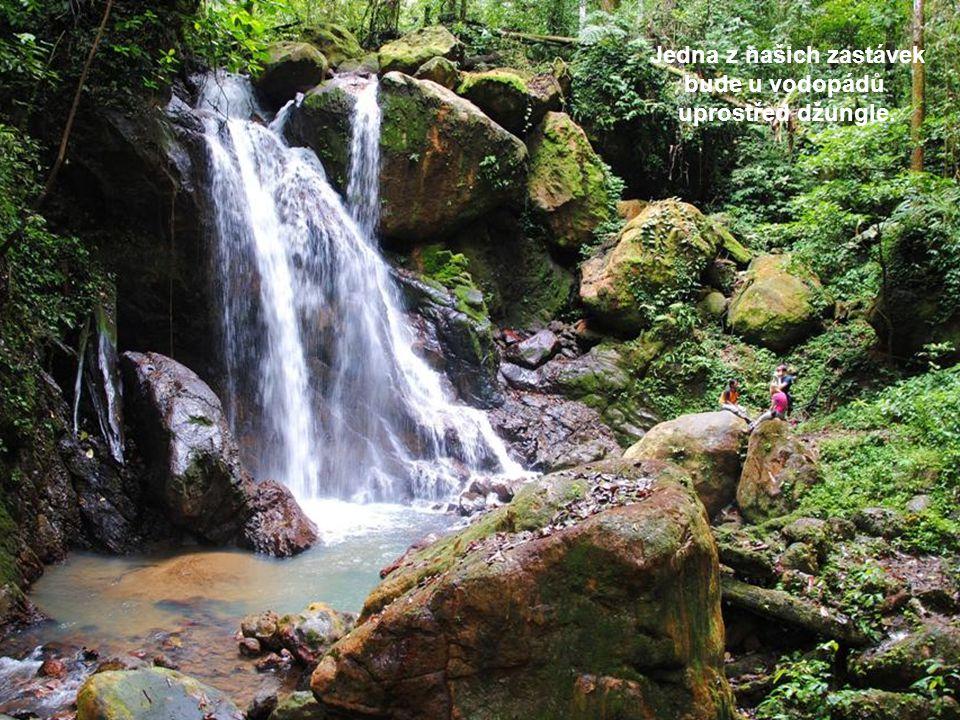 Jedna z našich zastávek bude u vodopádů uprostřed džungle.