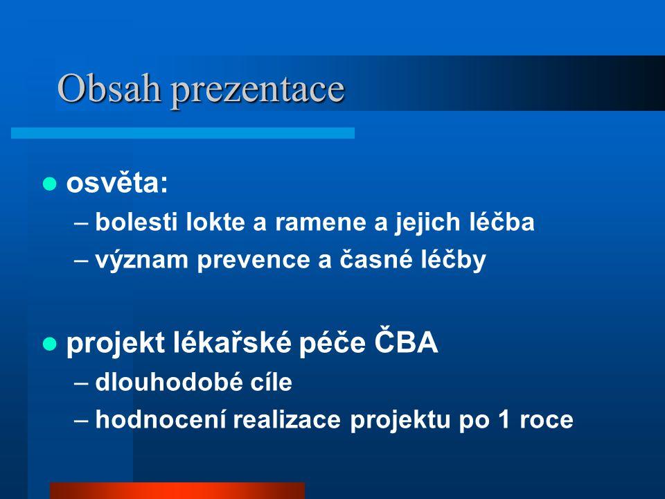 Realizace projektu Lékařská komise ČBA MUDr.Filip Hudeček –předseda, regionální lékař Brno MUDr.