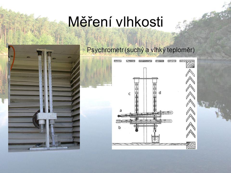Měření vlhkosti Psychrometr (suchý a vlhký teploměr)