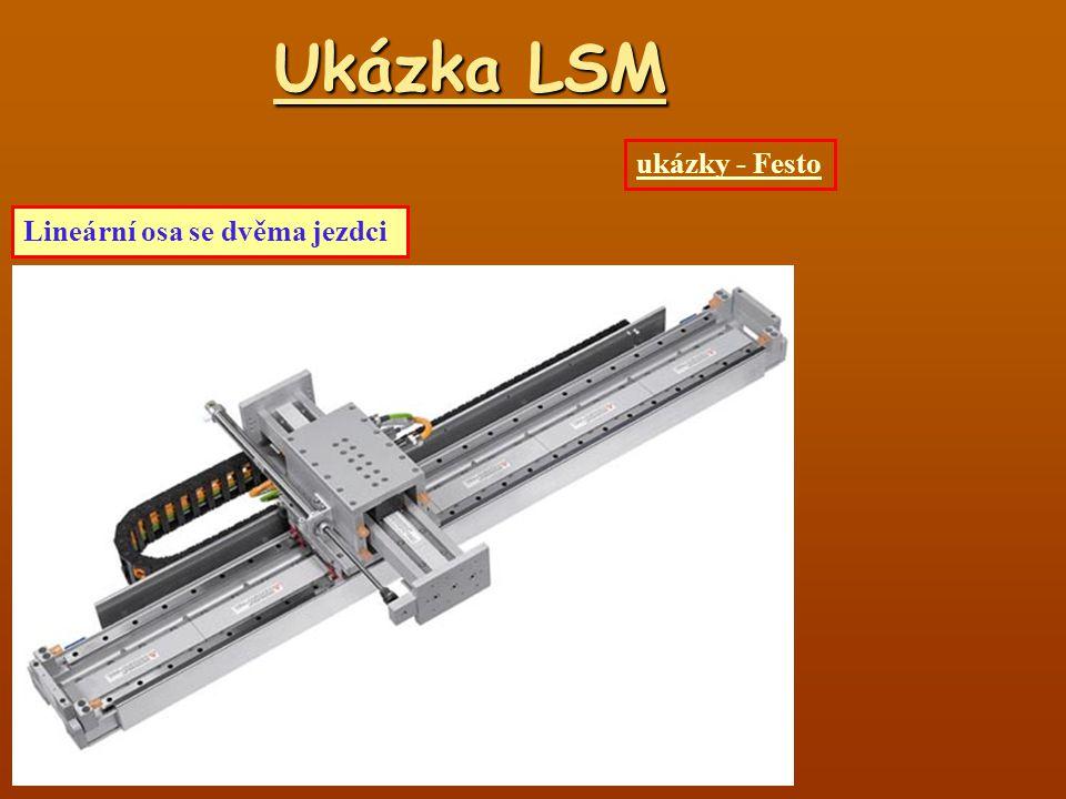 Ukázka LSM Lineární osa se dvěma jezdci ukázky - Festo