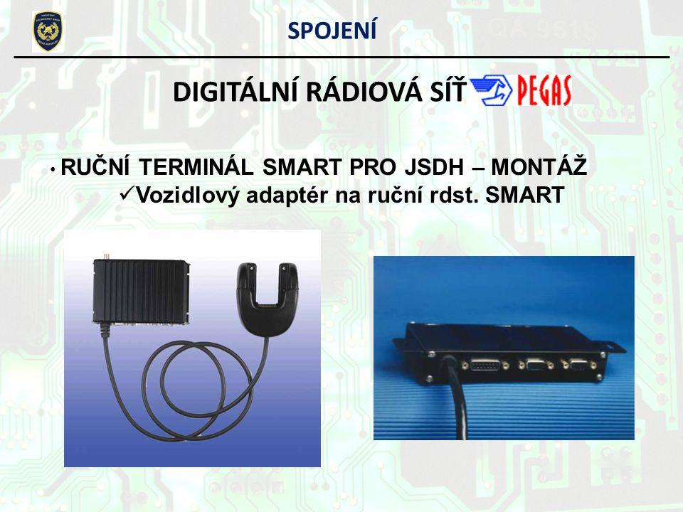 SPOJENÍ DIGITÁLNÍ RÁDIOVÁ SÍŤ RUČNÍ TERMINÁL SMART PRO JSDH – MONTÁŽ Vozidlový adaptér na ruční rdst. SMART