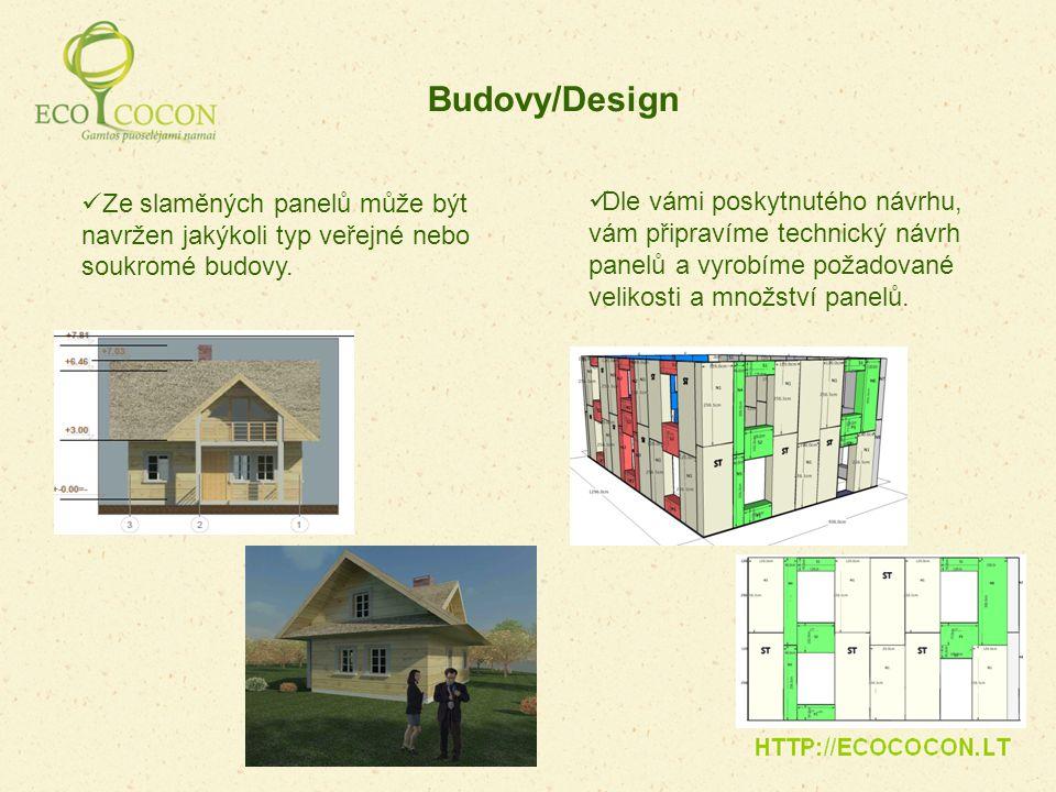 Ze slaměných panelů může být navržen jakýkoli typ veřejné nebo soukromé budovy. Budovy/Design Dle vámi poskytnutého návrhu, vám připravíme technický n