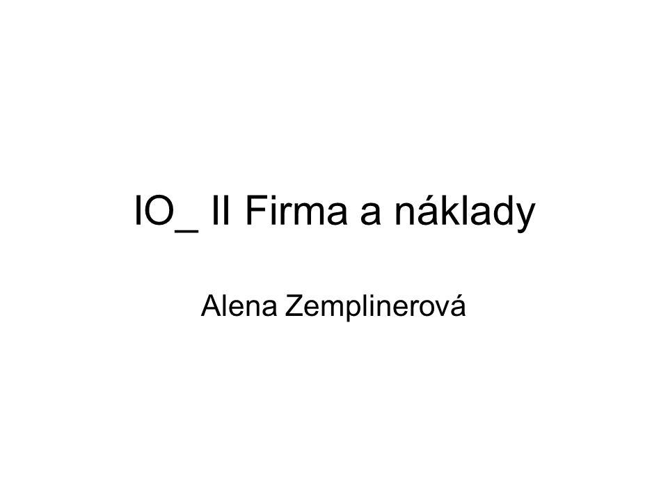 IO_ II Firma a náklady Alena Zemplinerová