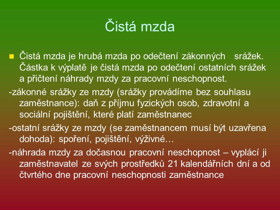 Zákonné srážky a jejich sazby pro rok 2013 Zdravotní a sociální pojištění, které hradí zaměstnanec.