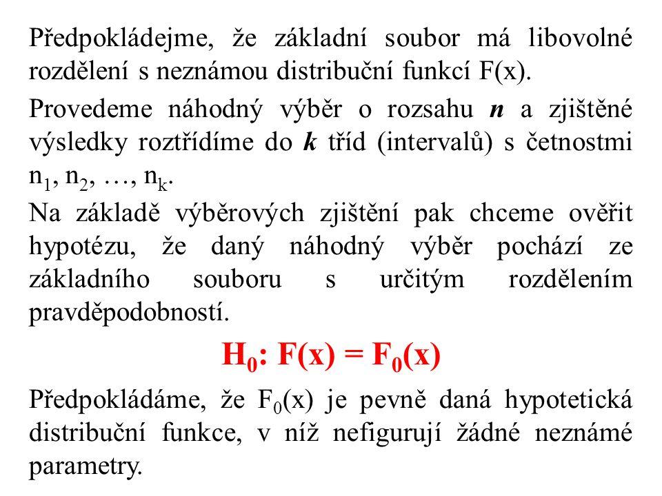 Z formulace problému vyplývá, že není třeba rozlišovat jednostranné a dvoustranné alternativní hypotézy.