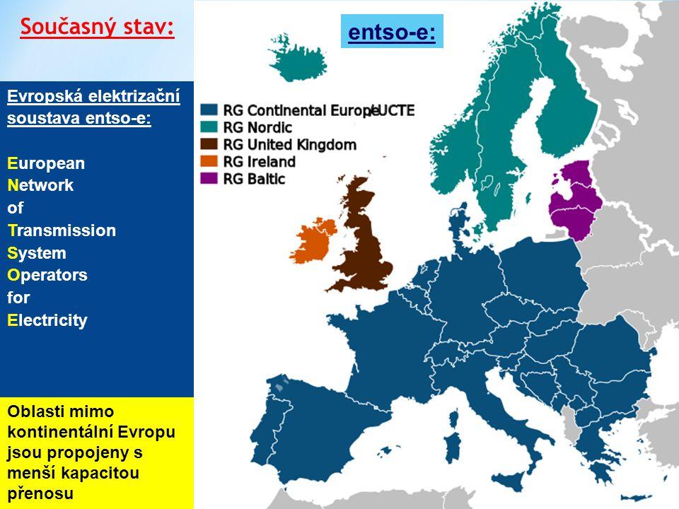 4 Česká přenosová soustava – přeshraniční toky Přeshraniční toky výkonu: (4.9.2014, 12.h.)  Skutečný tok do ČR ze severu je o cca 1000 MW vyšší než plán (vliv přebytku výroby z větru na severu Německa)  Skutečný tok z ČR na jih je o cca 1250 MW vyšší než plán Dochází k přetěžování soustavy ČR, zvláště při velké výrobě z větru na severu Německa a nižší výrobě z FVE na jihu Německa, což vyžaduje regulační zásahy ze strany ČEPS Současný stav – přetěžování přenosové soustavy ČR: