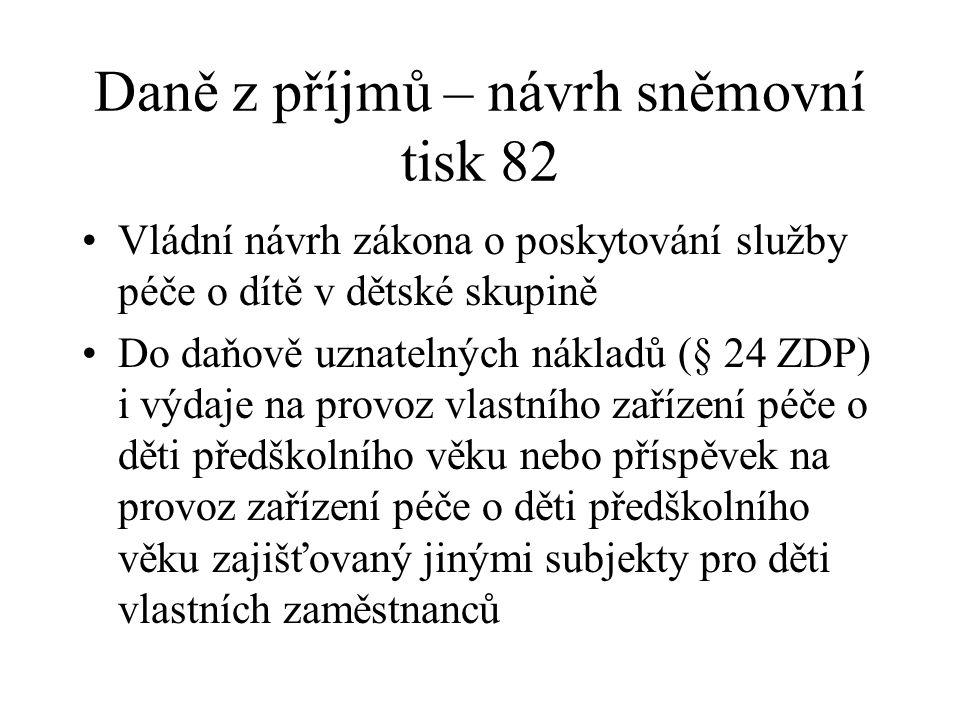 DPH Zákon č. 196/2014 Sb. 2 další návrhy