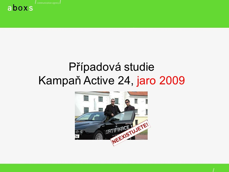 Případová studie Kampaň Active 24, jaro 2009