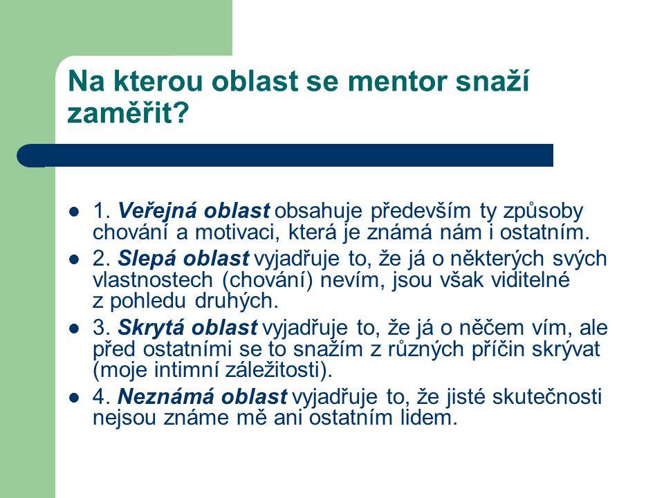 Na kterou oblast se mentor snaží zaměřit.1.