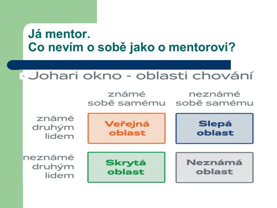Já mentor. Co nevím o sobě jako o mentorovi? x