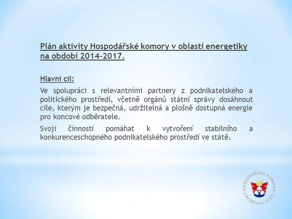 Plán aktivity Hospodářské komory v oblasti energetiky na období 2014-2017.