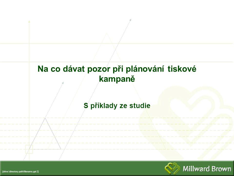 [drive:\directory path\filename.ppt 2] Na co dávat pozor při plánování tiskové kampaně S příklady ze studie