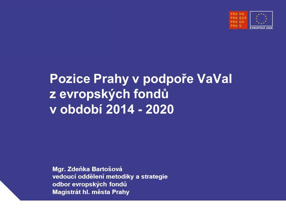Pozice Prahy v podpoře VaVaI z evropských fondů v období 2014 - 2020 Mgr.
