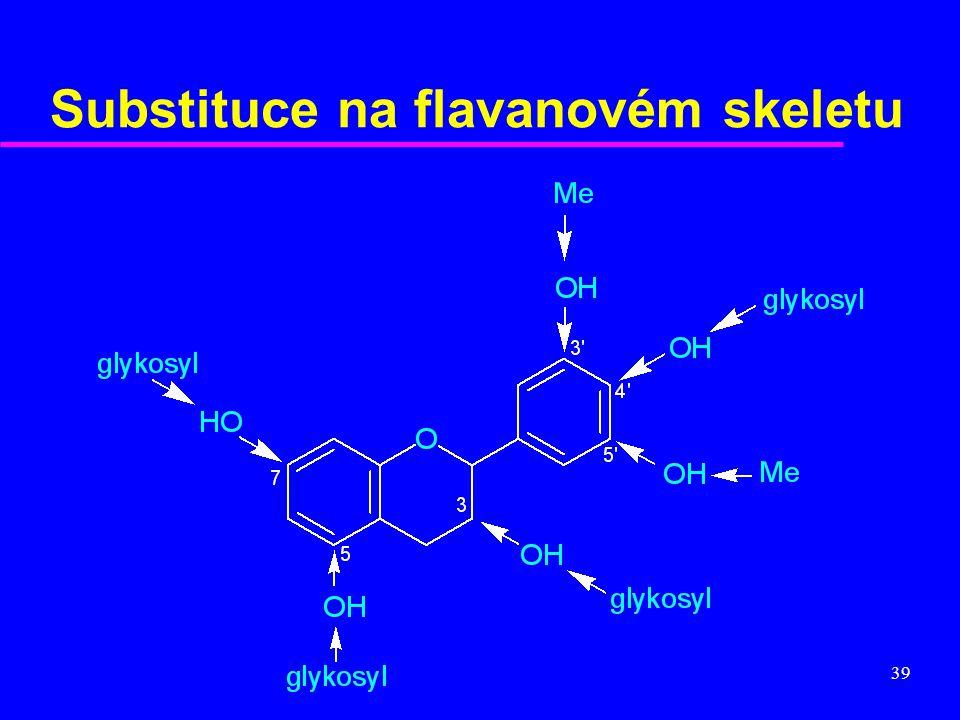 39 Substituce na flavanovém skeletu