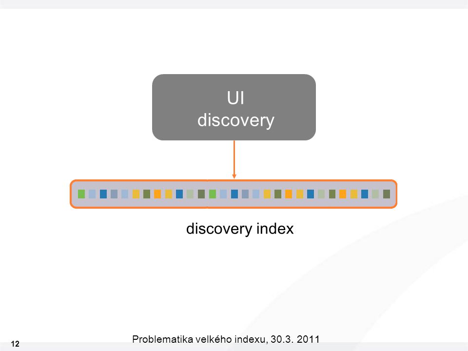 12 Problematika velkého indexu, 30.3. 2011 UI discovery discovery index