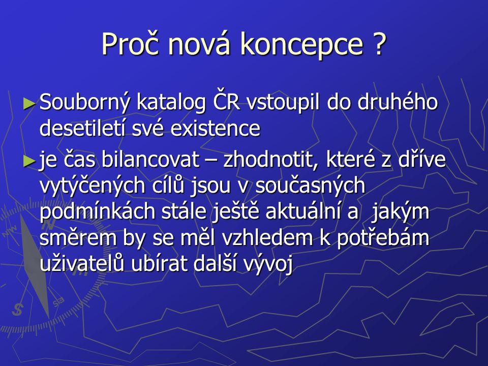 Koncepce navazuje na související ► Koncepci rozvoje knihoven v České republice na léta 2004 až 2010 [Usnesení vlády ČR ze dne 7.