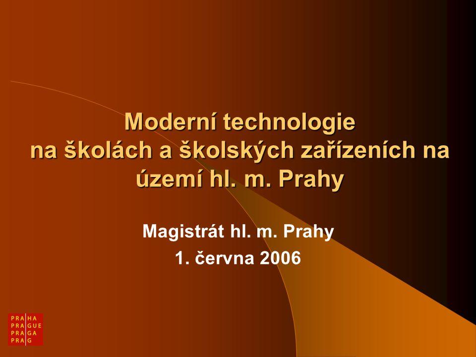 Moderní technologie na školách a školských zařízeních na území hl.