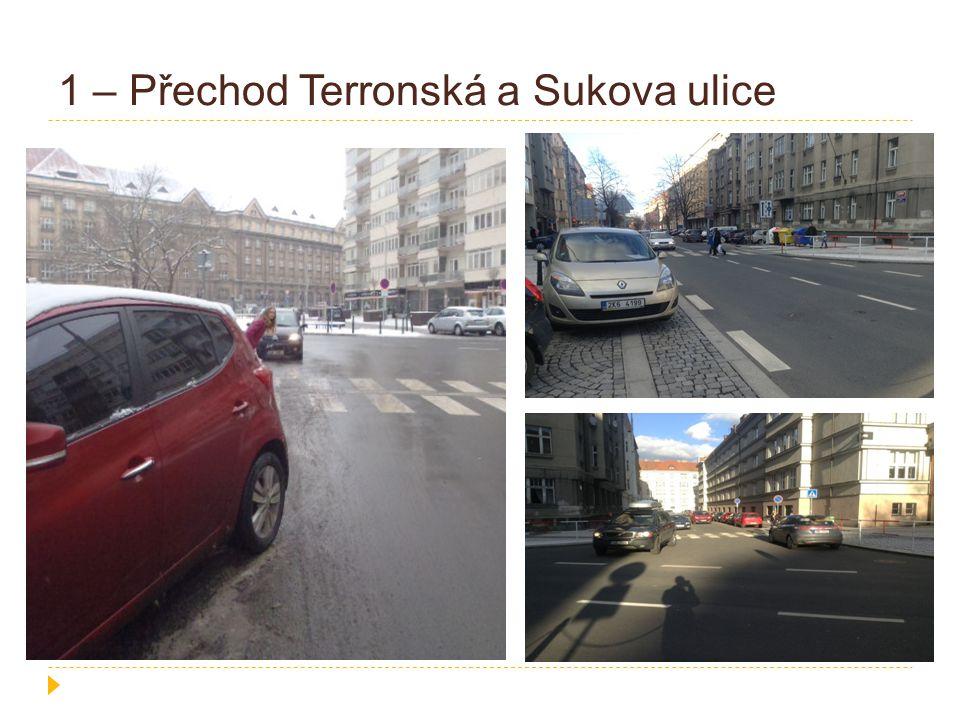 1 – Přechod Terronská a Sukova ulice