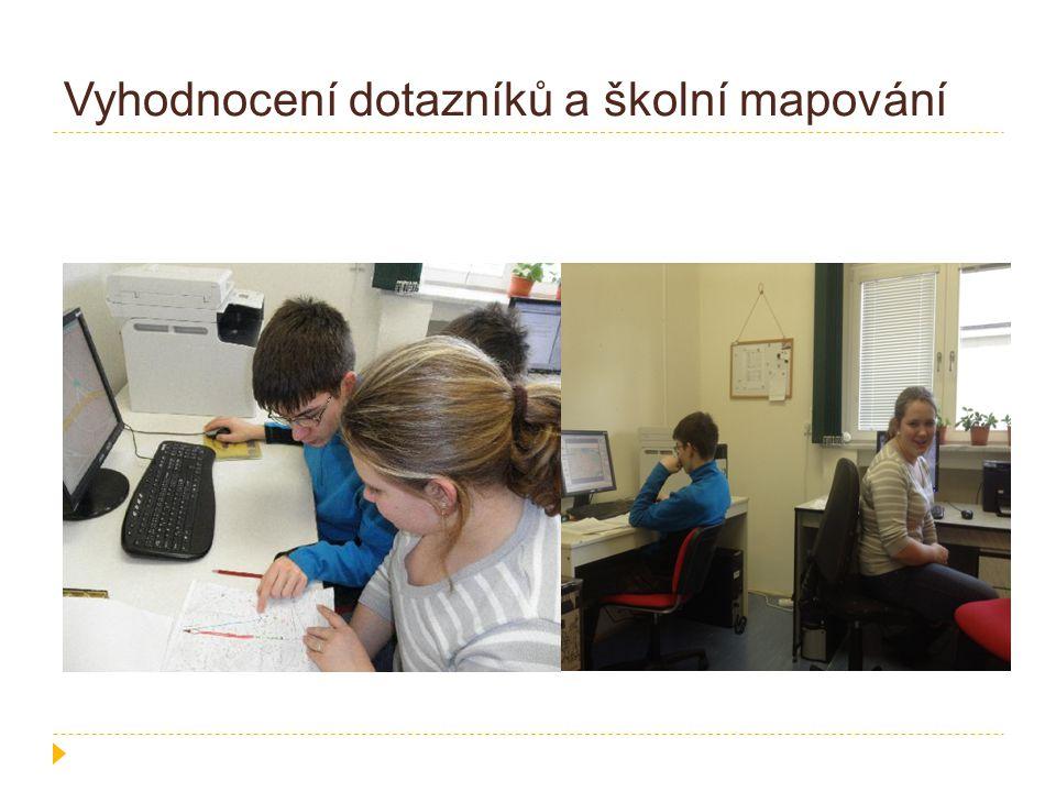 Vyhodnocení dotazníků a školní mapování