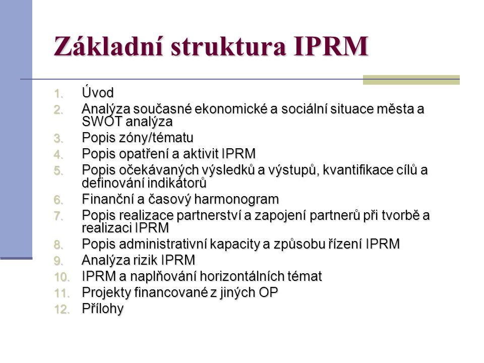 Základní struktura IPRM 1. Úvod 2.
