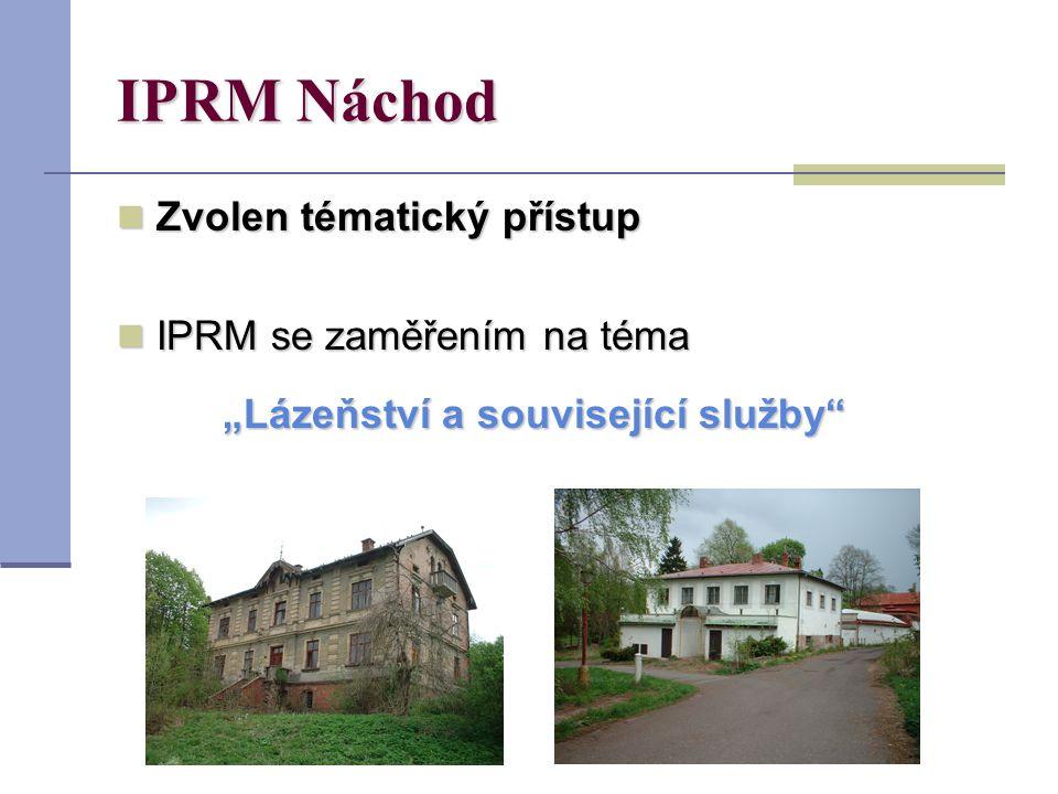 """IPRM Náchod Zvolen tématický přístup Zvolen tématický přístup IPRM se zaměřením na téma IPRM se zaměřením na téma """"Lázeňství a související služby"""