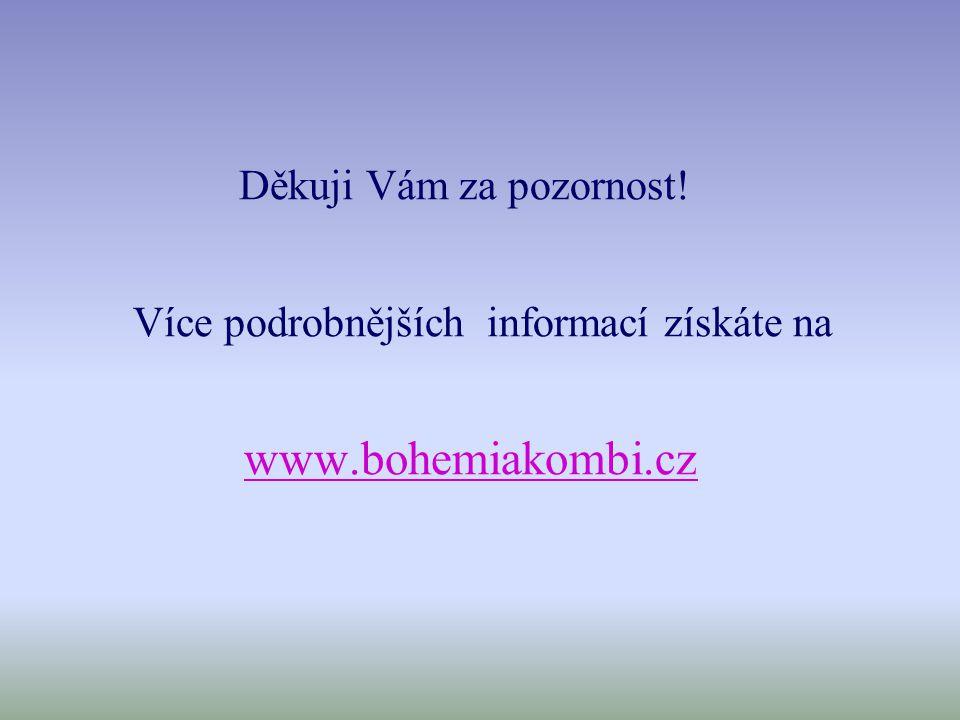 Děkuji Vám za pozornost! Více podrobnějších informací získáte na www.bohemiakombi.cz
