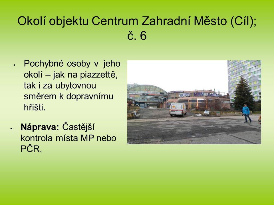 Okolí objektu Centrum Zahradní Město (Cíl); č.