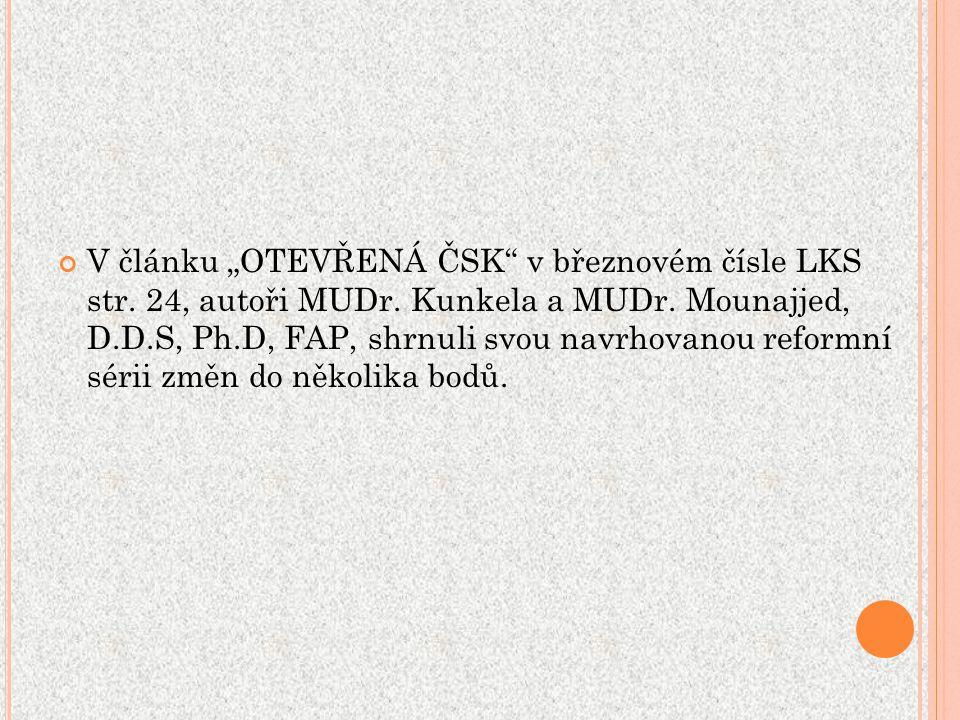 """V článku """"OTEVŘENÁ ČSK v březnovém čísle LKS str."""