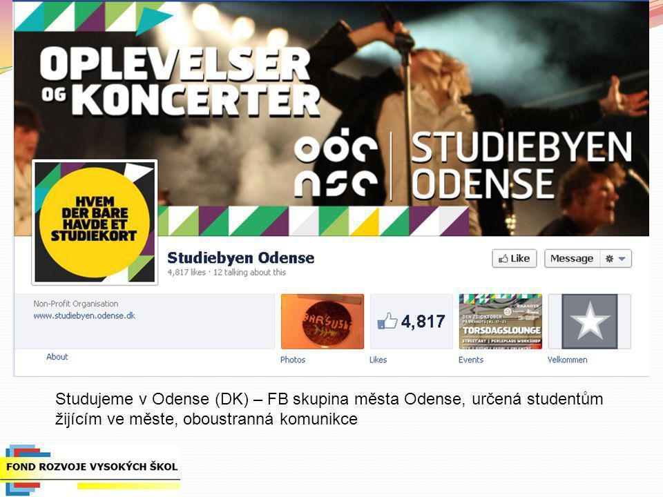Studujeme v Odense (DK) – FB skupina města Odense, určená studentům žijícím ve měste, oboustranná komunikce