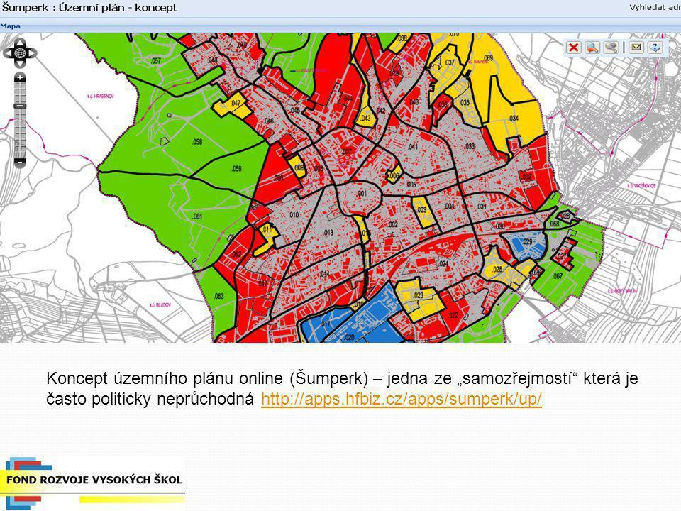 """Koncept územního plánu online (Šumperk) – jedna ze """"samozřejmostí"""" která je často politicky neprůchodná http://apps.hfbiz.cz/apps/sumperk/up/http://ap"""