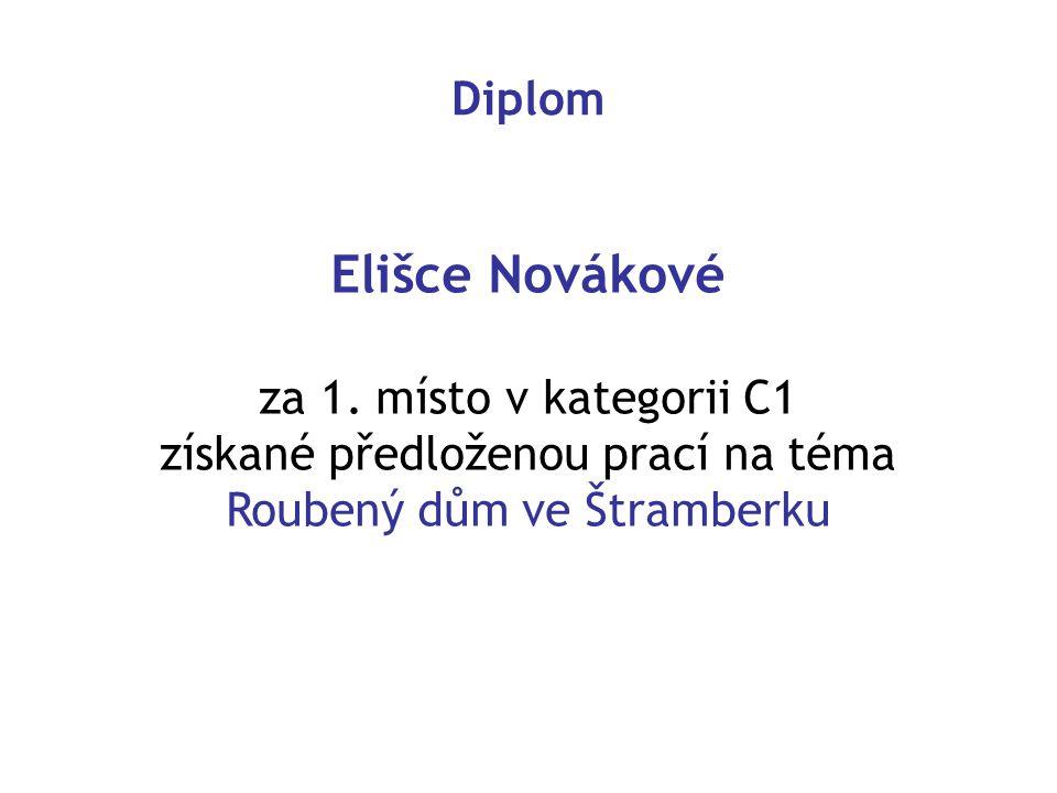 Diplom Elišce Novákové za 1.